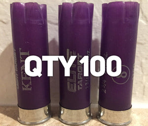 100 Purple Empty Shotgun Shells 12 Gauge Shotshells Spent Hulls Cartridges Once Fired Casings 12 GA Shot Gun Purple Hulls