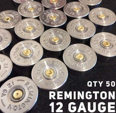 12 Gauge Remington Silver Headstamps Shotgun Bottoms Slices 12GA
