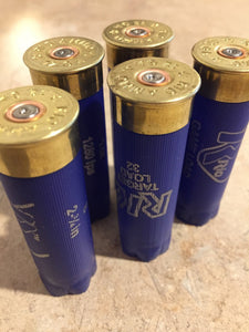 Blue Empty RIO Shotgun Shells 12 Gauge Shotshells Spent Hulls Cartridges Fired Casings Shot Gun Shells Qty 50 Pcs - FREE SHIPPING
