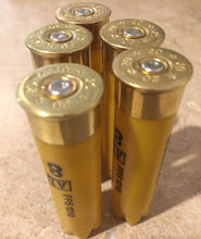 Load image into Gallery viewer, Yellow Shotgun Shells 20 Gauge Golden Yellow Hulls Once Fired Spent Herters Empty Shot Gun Cartridges DIY Ammo Crafts Qty 10 Pcs - FREE SHIPPING
