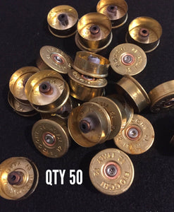Gold Head Stamps Shotgun Shell 12 Gauge End Caps Brass Bottoms DIY Bullet Necklace Earring Jewelry Steampunk Crafts