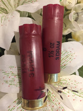 Load image into Gallery viewer, Dark Red Burgundy Empty 12 Gauge Shotgun Shells Used Casings Fired Hulls Spent Cartridges Federal Maroon 10 Pcs - FREE SHIPPING