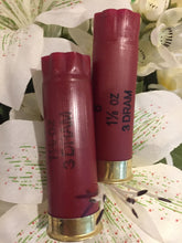Load image into Gallery viewer, Dark Red Burgundy Empty 12 Gauge Shot Gun Shells Used Casings Fired Hulls Spent Cartridges Federal Maroon 15 Pcs - Free Shipping