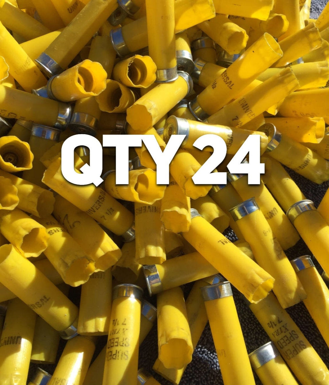 Yellow 20 Gauge Empty Shotgun Shells