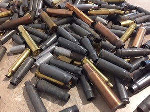 Empty Shells Casings Steel  Brass Copper Bullet Casings Ammo Cartridge Dents Dings Shells