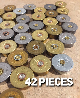12GA Gold Silver Headstamps 12 Gauge Bottoms Slices