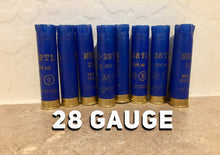 Load image into Gallery viewer, Blue Shotgun Shells 28 Gauge Empty Hulls