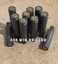 Load image into Gallery viewer, 308 Steel Shells Drilled Empty Used Spent Casings 308 WIN