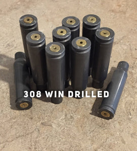 308 Steel Shells Drilled Empty Used Spent Casings 308 WIN