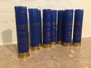 Empty Blue 28 GA Shotgun Shells