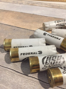 White USA Shotgun Shells 12GA Hulls Used Shotshells Empty 12 Gauge Ammo Spent Shot Gun Casings 10 Pcs - FREE SHIPPING