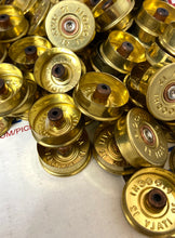 Load image into Gallery viewer, Gold Head Stamps Shotgun Shell 12 Gauge End Caps Brass Bottoms