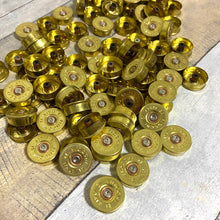 Load image into Gallery viewer, Gold Head Stamps Shotgun Shell 12 Gauge End Caps Brass Bottoms DIY Bullet Necklace Earring Jewelry Steampunk Crafts 50 Pcs - FREE SHIPPING