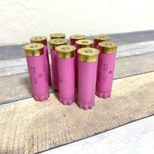 Load image into Gallery viewer, Pink Shotgun Shell 12 Gauge Empty 12GA Hulls Used Shotshells Spent Casings Shot Gun Cartridges DIY Ammo Crafts 10 Pcs | FREE SHIPPING