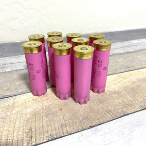 Pink Shotgun Shell 12 Gauge Empty 12GA Hulls Used Shotshells Spent Casings Shot Gun Cartridges DIY Ammo Crafts 10 Pcs | FREE SHIPPING