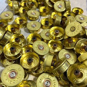 Gold Head Stamps Shotgun Shell 12 Gauge End Caps Brass Bottoms DIY Bullet Necklace Earring Jewelry Steampunk Crafts 50 Pcs - FREE SHIPPING