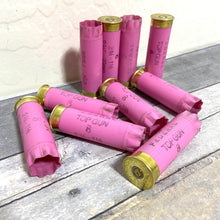 Load image into Gallery viewer, Pink Shotgun Shell 12 Gauge Empty Pink 12GA Hulls