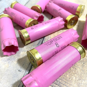 Pink Empty Shotgun Shells 12 Gauge Hulls 12GA