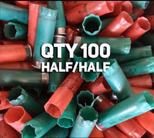 Green and Red Empty Shotgun Shells