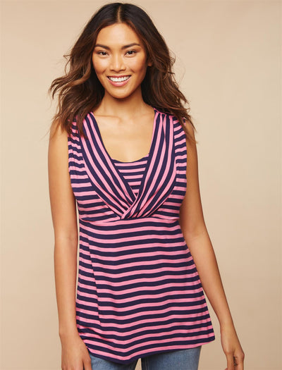 Pink/Navy Stripe / XL|Pink/Navy Stripe / S|Pink/Navy Stripe / M|Pink/Navy Stripe / L