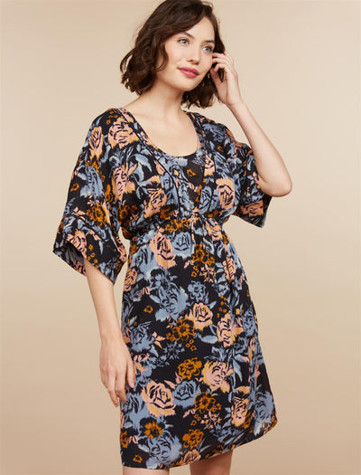 Black Grounded Flora / L|Black Grounded Flora / M|Black Grounded Flora / S|Black Grounded Flora / XL