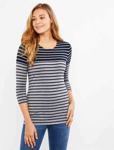 Navy/Grey Stripe / S|Navy/Grey Stripe / XL|Navy/Grey Stripe / XS|Navy/Grey Stripe / M|Navy/Grey Stripe / L