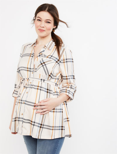 Cream Plaid / XL|Cream Plaid / S|Cream Plaid / M|Cream Plaid / L|Cream Plaid / XS