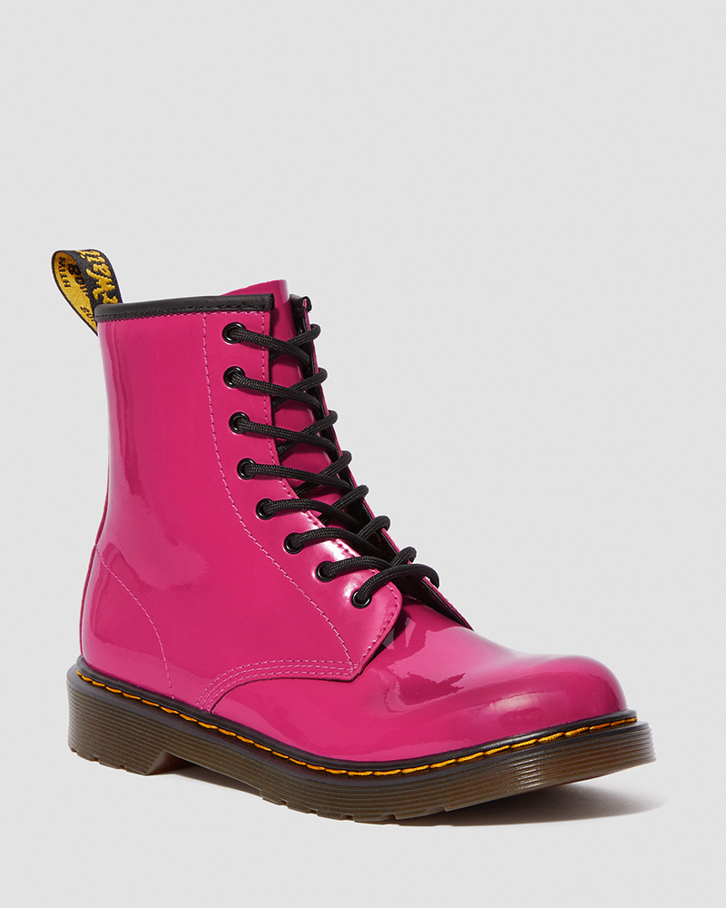 YOUTH 1460 PATENT HOT PINK