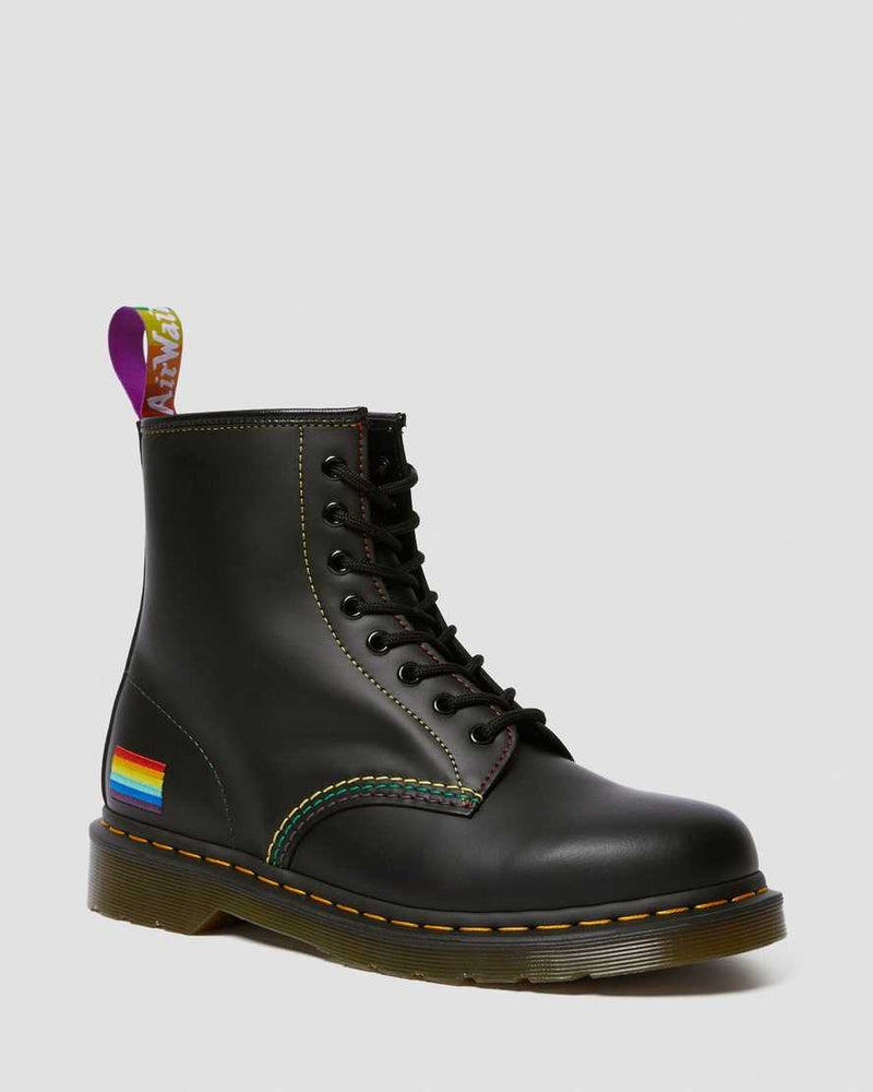 1460 FOR PRIDE SMOOTH LEATHER LACE UP BOOTS