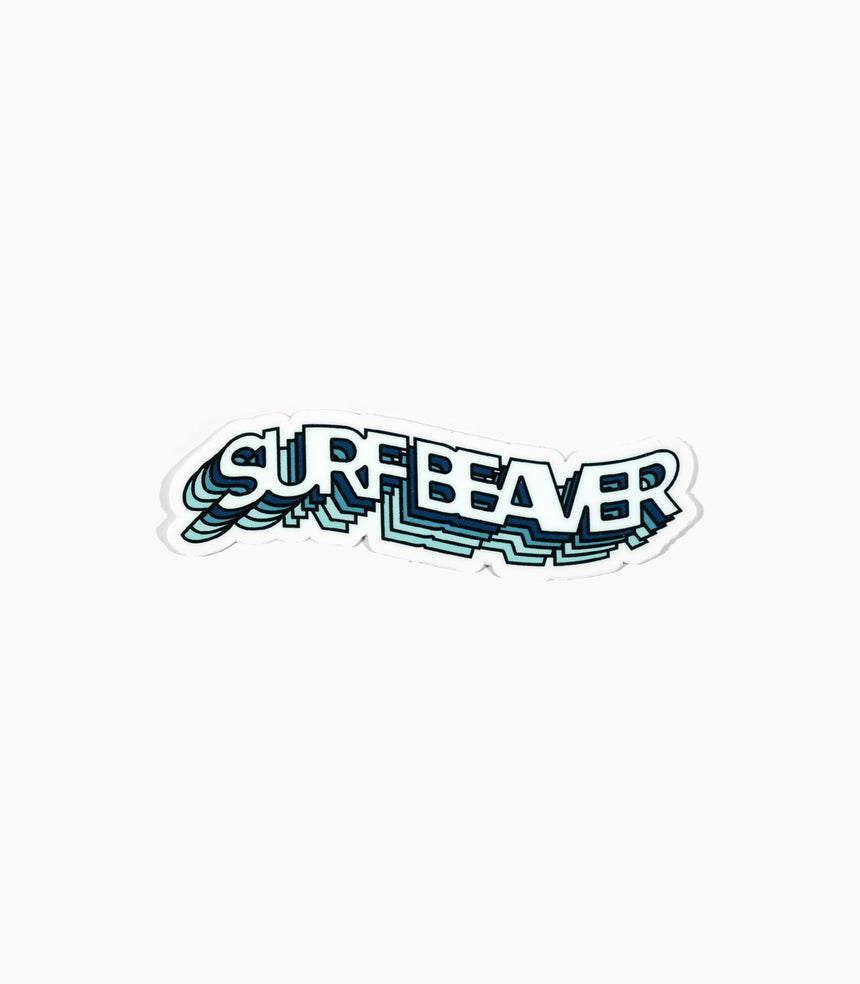 Wavy Surf Beaver Sticker