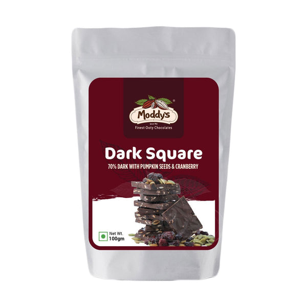 SQUARES - 70% DARK WITH PUMPKIN SEEDS & CRANBERRY**