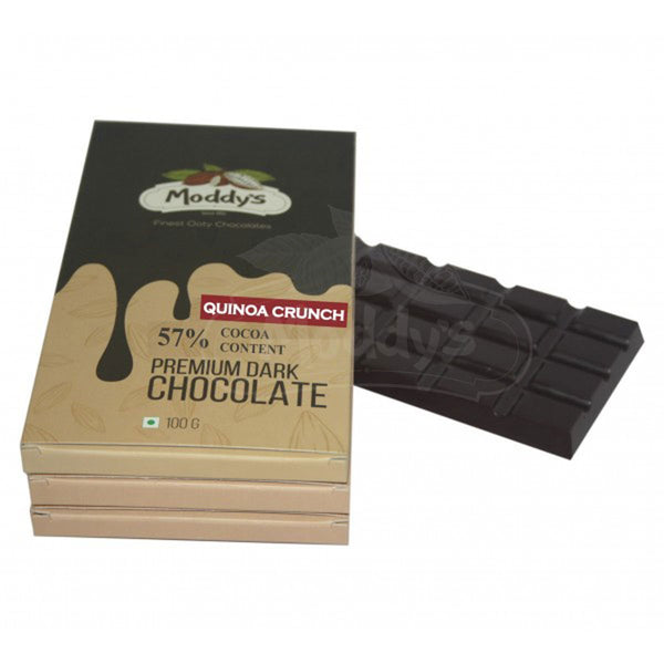 57% DARK CHOCOLATE BAR WITH QUINOA CRUNCH - PACK OF 3