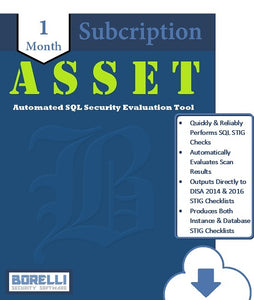 ASSET - Automated SQL Security Evaluation Tool (1M - Single Seat)