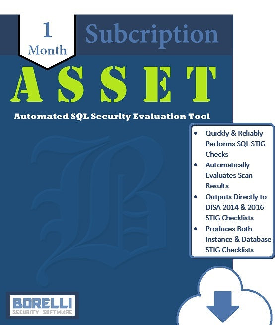 Download a 1 month subscription to ASSET, a comprehensive SQL Server vulnerability scanner