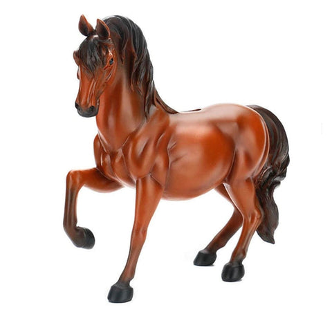 Tirelire cheval marron