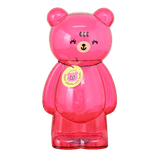 Tirelire géante XXL ours en plastique transparent rose
