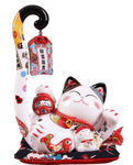 Tirelire chat Maneki-Neko japonais allongé