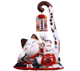 Tirelire chat japonais Maneki-Neko  allongé