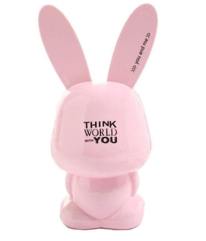 Tirelire lapin rose