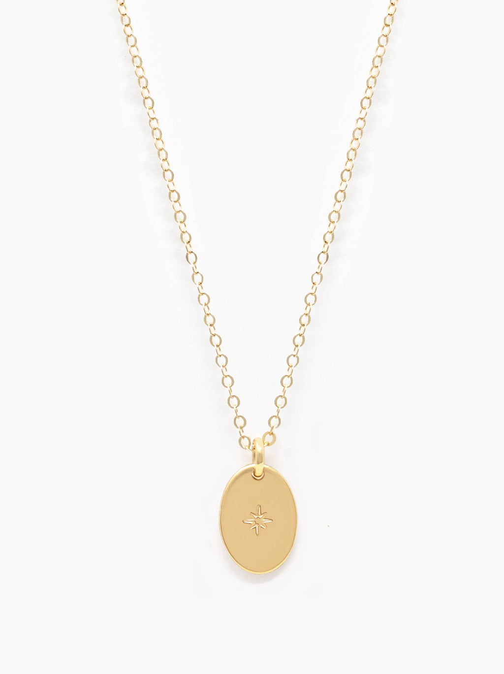 Able Dainty Oval Necklace