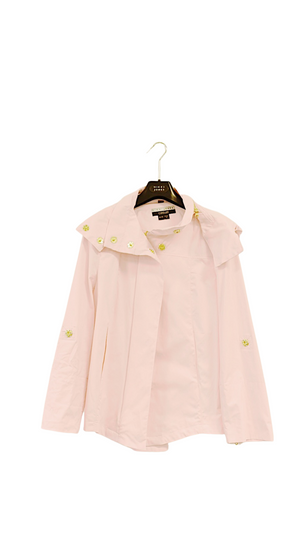 Ladies Short Rain Coat - Blush