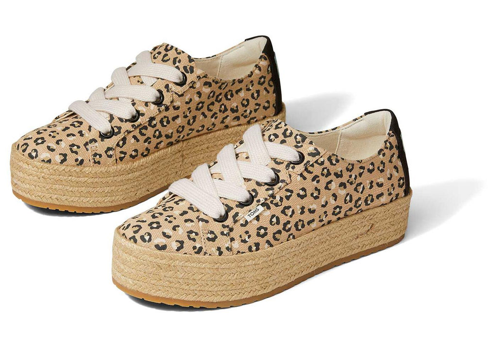 TOMS Cassiah Lace-up Espadrille - Cheetah