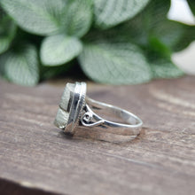 Load image into Gallery viewer, Pyrite Ring | Sterling Silver 925 | SIZE 8 | Natural Pyrite Gemstone Ring | Gift For Her | Gemstone Jewelry