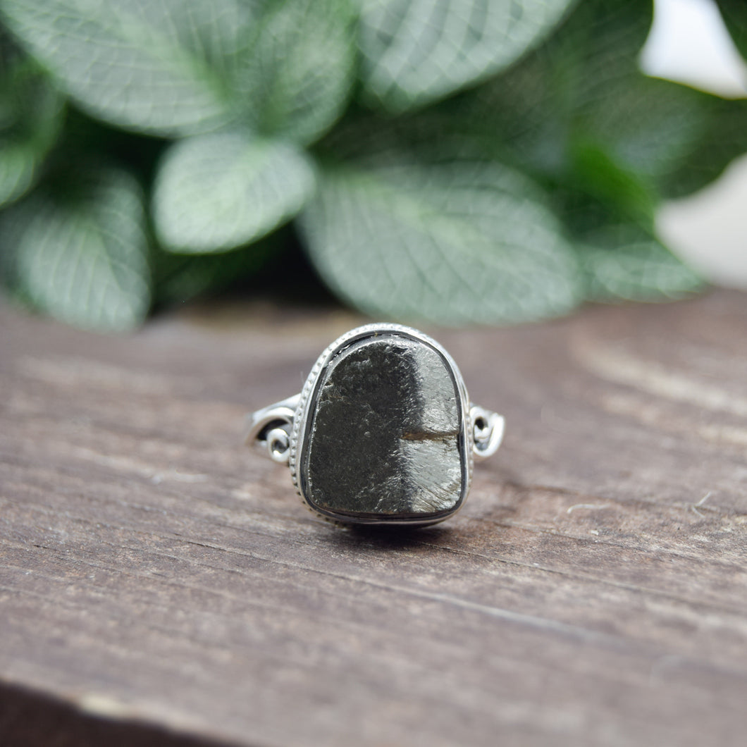 Pyrite Ring | Sterling Silver 925 | SIZE 8 | Natural Pyrite Gemstone Ring | Gift For Her | Gemstone Jewelry