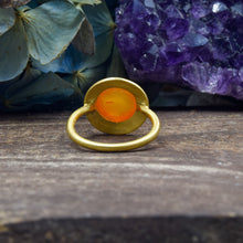 Load image into Gallery viewer, Carnelian Ring | Vermeil Sterling Silver 925 | SIZE 5.5 | Statement Ring | Gold Jewelry