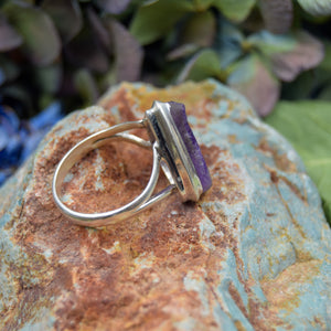 Amethyst Ring | Sterling Silver 925 | SIZE 9 | Raw Gemstone Ring