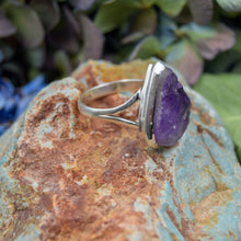 Load image into Gallery viewer, Amethyst Ring | Sterling Silver 925 | SIZE 9 | Raw Gemstone Ring