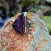 Load image into Gallery viewer, Amethyst Ring | Sterling Silver 925 | SIZE 6.5 | Natural Amethyst Gemstone Ring | Raw Gemstone | Gemstone Jewelry