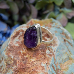 Amethyst Ring | Sterling Silver 925 | SIZE 7 | Natural Amethyst Gemstone Ring | Unique Ring