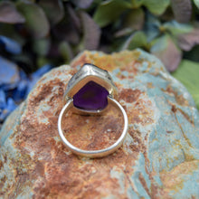 Load image into Gallery viewer, Amethyst Ring | Sterling Silver 925 | SIZE 7 | Natural Amethyst Gemstone Ring | Unique Ring